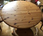 Esstisch aus Kiefer-Massivholz inkl 4