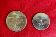 Zwei Silbermünzen 10 Dollar 5