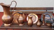 Kupfervasen und Kupferteller