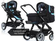 Schwarz blauer ABC Design Kombi