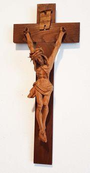 Antik schmales Kruzifix Kreuz Jesus