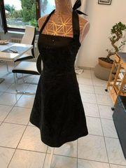 Schwarzes Abendkleid Abiballkkleid mit Pailetten