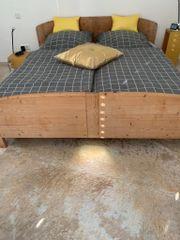 Doppelbett Pinie Massiv 1 80x2