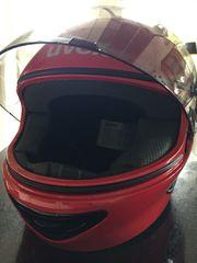 UVEX Motorradhelm für Kinder rot -