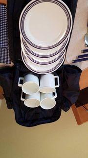 Picknick-Rucksack für 4 Personen in
