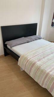 Ikea Bett 140x200 cm dunkelbraun