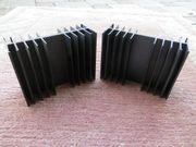 Kühlkörper Aluminium massiv eloxiert schwarz