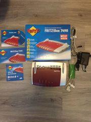 Fritz Box 7490 mit Zubehör
