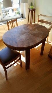 Alter ovaler Tisch zum ausziehen