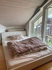 140 200 cm weißes Bett