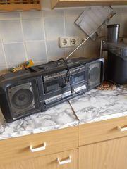 Stereo Kassettenrekorder mit Radio schwarz