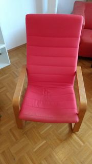Sessel IKEA Poäng Pello rot