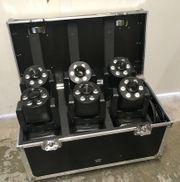 6x LED Moving-Head Wash inkl
