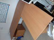 Schreibtisch mit Container neuwertig 220x200