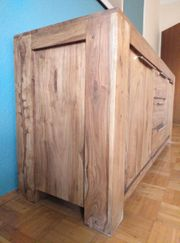 Sideboard Kommode Wohnzimmer Echtholz Sheesham
