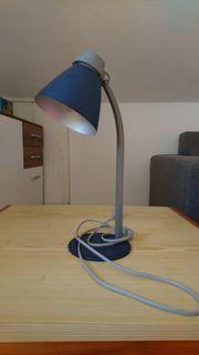 dunkelblaue Schreibtischlampe