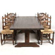 Tisch Antike Essgruppe ca 1970