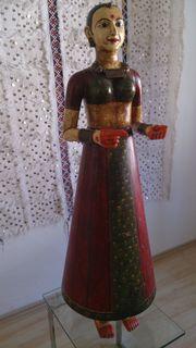 Indische Antike Holzfigur