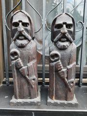 Zwei urige Holzfiguren ca 41