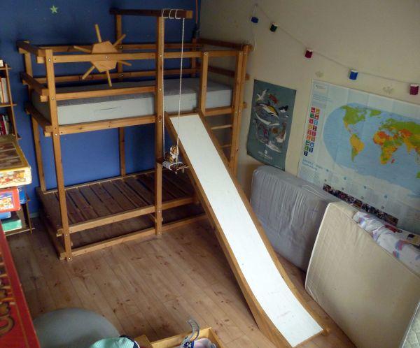 Etagenbett Kinder Rutsche : Hochbett kinder rutsche kin tunnel fa r kinzimmer