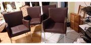 Leder Stühle