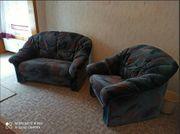 2 Sessel 1-Sitzer und 2-Sitzer