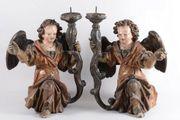 Paar Renaissance Leuchter Engel Holz