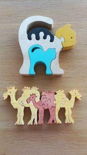 3D-Holzpuzzles Katzen Kamele