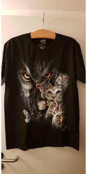 T-Shirt beidseitig bedruckt Eulen