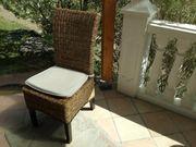 Rattan Stühle mit Sitzkissen gebraucht