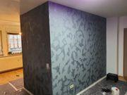 Trockenbau Malerarbeiten Spachtel Arbeit mit