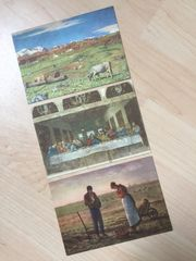 3 Ansichtskarten als Kunstdruck um