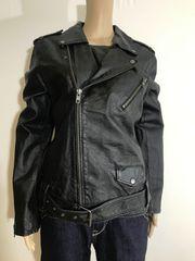 66 - Damen Lederjacke Biker Jacke