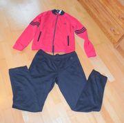 NEUWERTIGER rötlich schwarzer Trainingsanzug Adidas