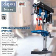 Scheppach Profi-Säulenbohrmaschine DP19Vario mit Laser