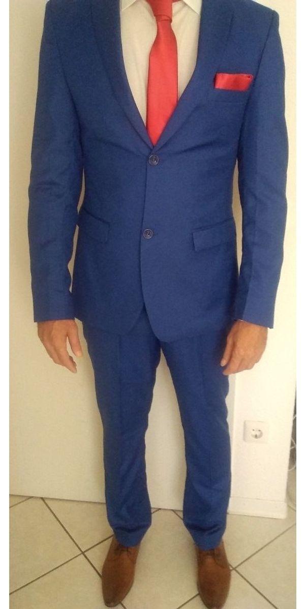 946f59516d12 Anzug Blau Gr.M - 50 SlimFit in Annweiler - Herrenbekleidung kaufen ...