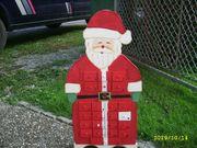 Advendkalender Holz Weihnachtsmann und Socken