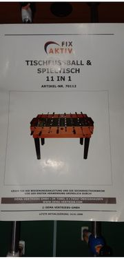 Tischfussball und Spieltisch 11 in