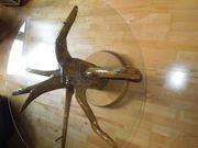 Wurzelstocktisch mit Glasplatte Unikat reine