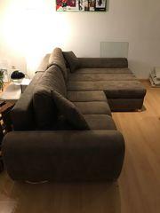 Hochwertige XXL Couch mit Bettfunktion