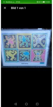 NEU Keith Haring Gerahmt 80