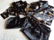 Damen - Lang- und Kurzpyjama Schlafanzug