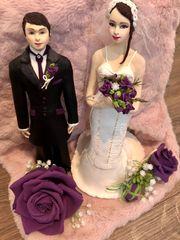 Brautpaar Figuren Boutonniere