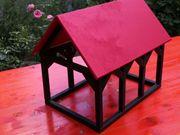 Neues Holz Fachwerkhaus lackiert Schreinerarbeit