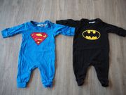 2er-Pack Schlafstrampler Schlafanzug Batman Superman