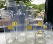 Drehverpackungen Kunststoff-Verpackungshülse klar div Deckel