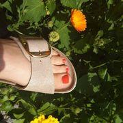 Model für Fußpflege