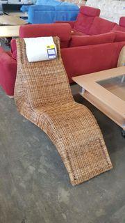 Liegestuhl aus Korbgeflecht hochwertig - H18011