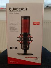 HyperX HX-MICQC-BK QuadCast - Streaming Mikrofon