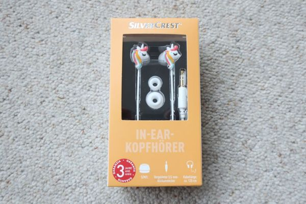 Verkaufe Silvercrest In-Ear-Kopfhörer Einhorn weiß